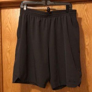 New Adidas Climalite L woven training shorts gray